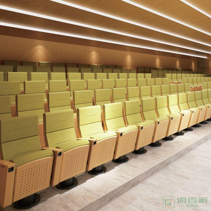 精一家具弘时系列会议室礼堂椅排椅电影院剧院联排座椅阶梯连座椅报告厅椅