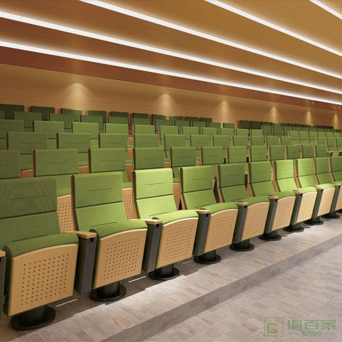 精一家具弘时系列礼堂椅排椅会议椅带写字板报告厅座椅剧院椅电影院座椅子