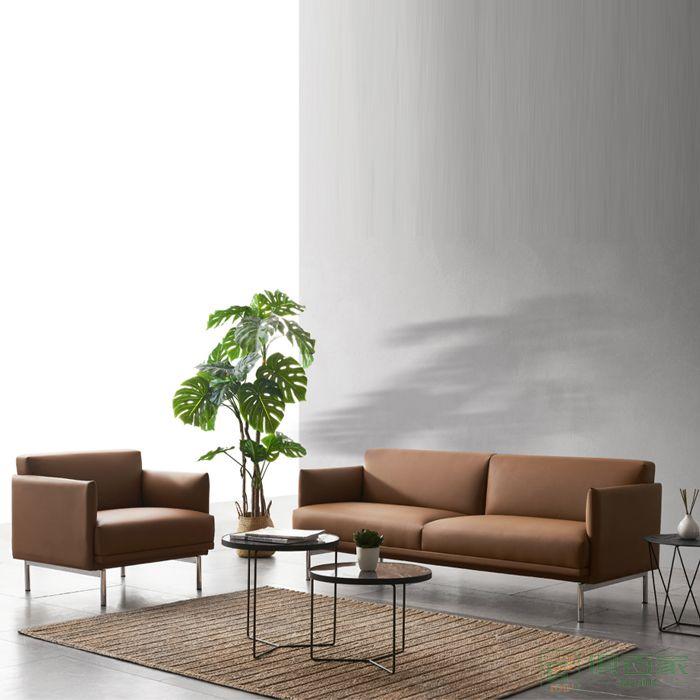 精一家具办公沙发办公室会客现代简约茶几商务接待