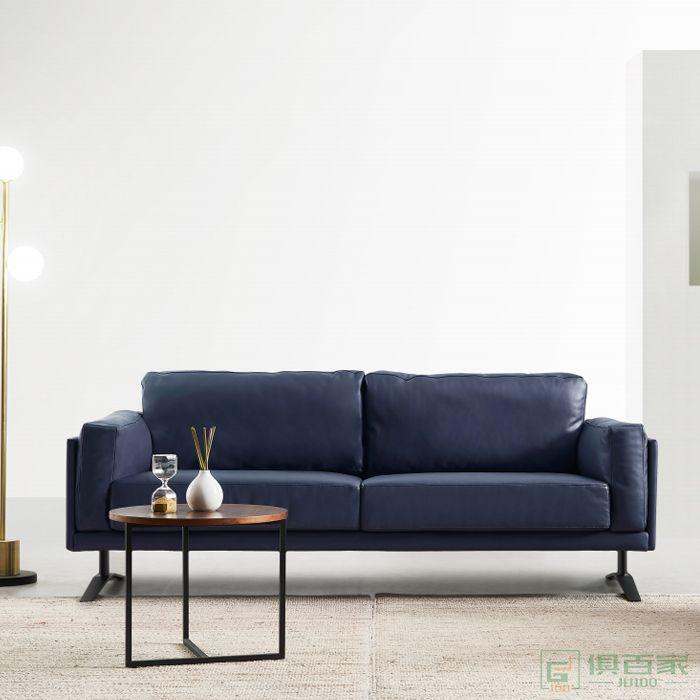 精一家具办公沙发简约三人位小型简约现代商务会客