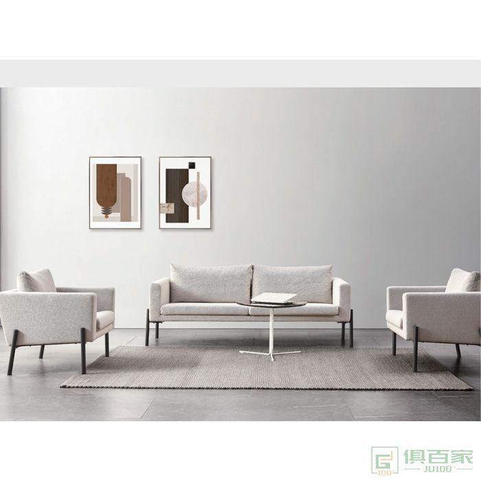 精一家具办公沙发 休闲洽谈会客办公室沙发茶几组合简约现代