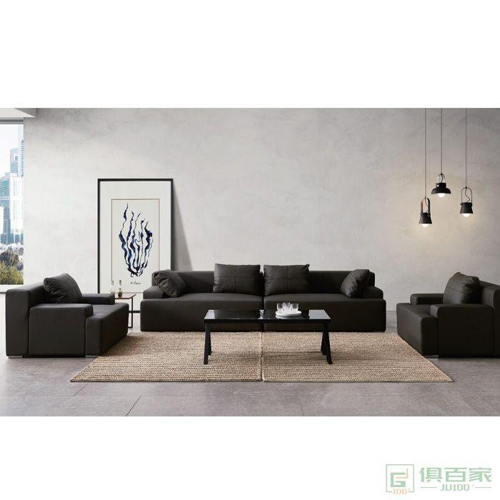 精一家具办公沙发现代简约高档三人位办公室商务接待室会客区