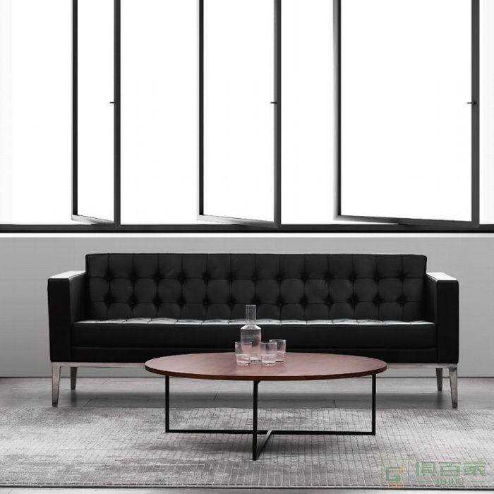 精一家具办公室沙发商务会客接待室洽谈