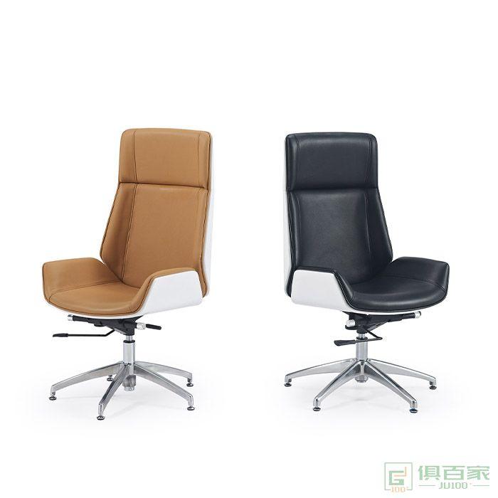 京图家具弯板系列大班台办公室沙发椅