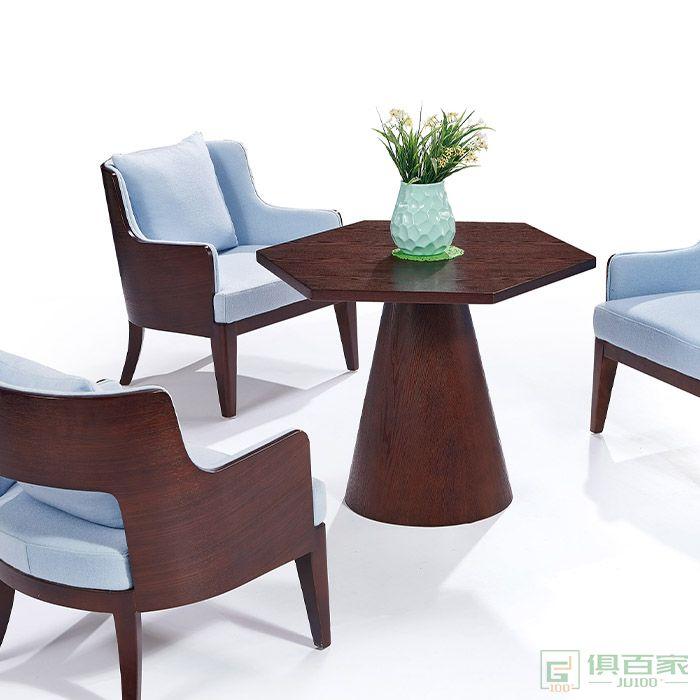 京图家具弯板系列办公会客桌椅休闲创意小圆桌商务洽谈接待