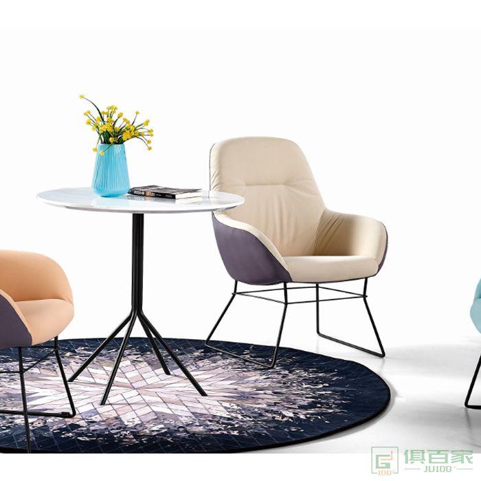 京图家具春风系列圆形洽谈桌