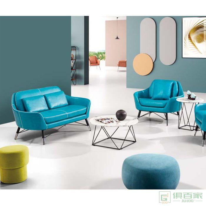 京图家具春风系列北欧办公沙发会客洽谈接待室商务时尚办公室沙发简约现代