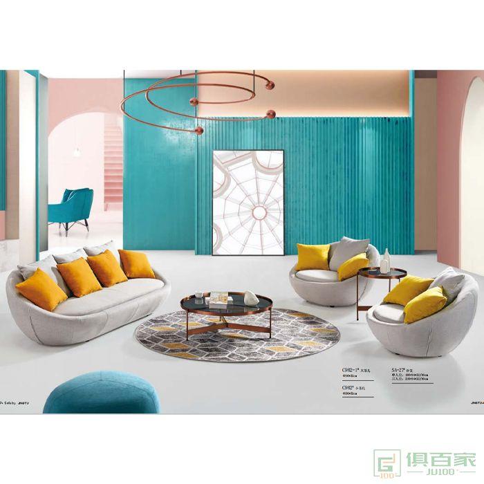 京图家具春风系列布沙发
