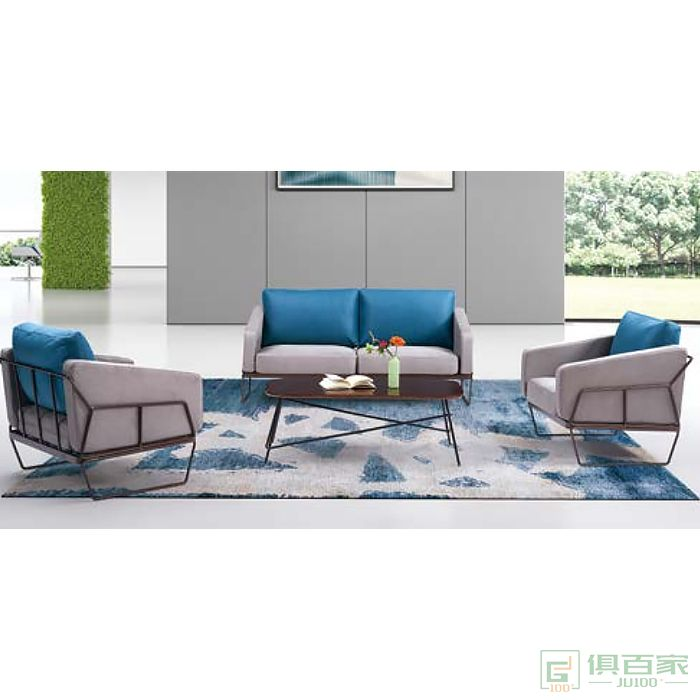 京图家具春风系列沙发办公沙发