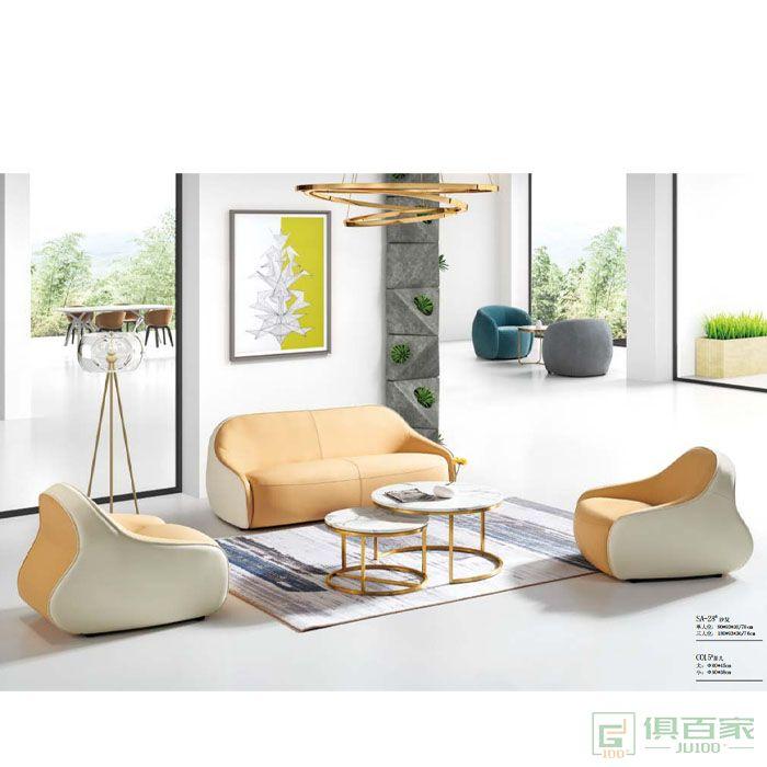 京图家具春风系列沙发单人位三人位