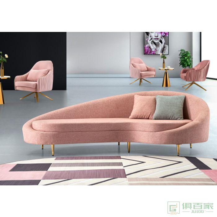 图龙家具沙发美容院招待沙发