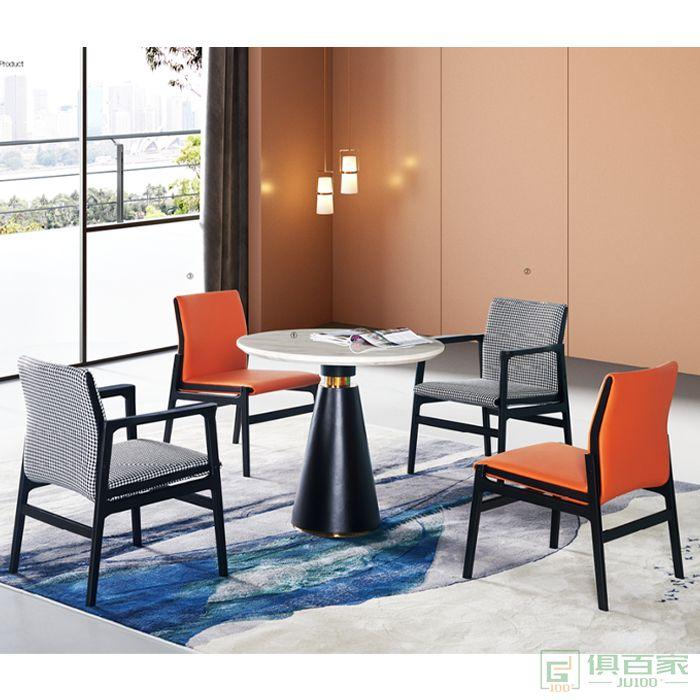 图龙家具现代简约家用北欧餐厅实木椅子休闲