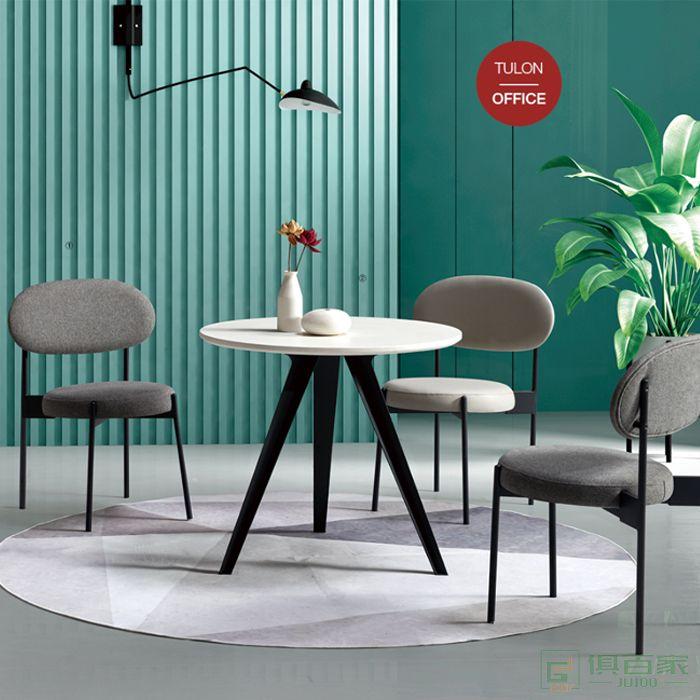 图龙家具北欧餐厅实木椅子靠背凳子休闲创意网红ins轻奢
