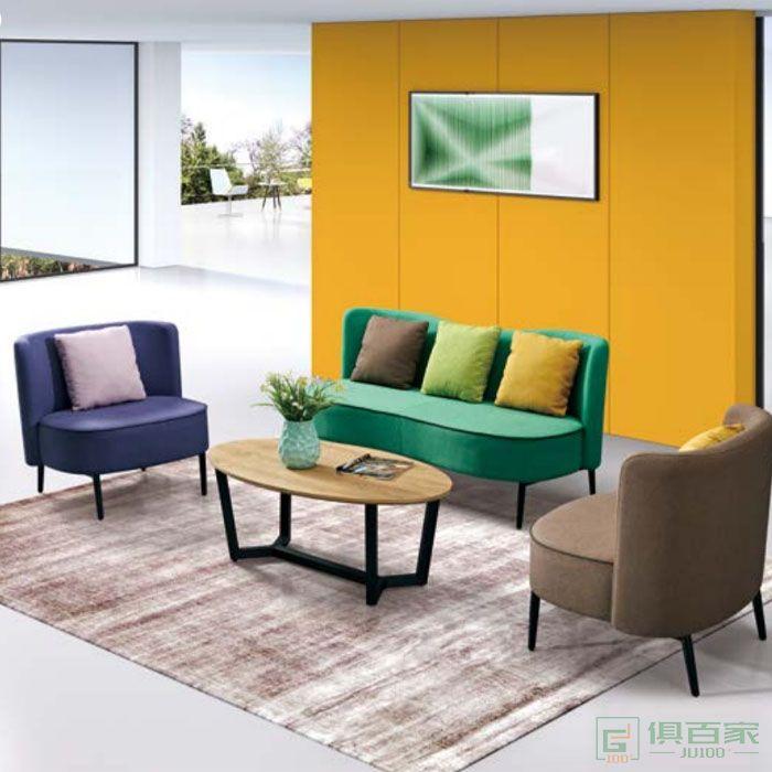 京图家具春风系列简约现代商务接待会客区公司办公室洽谈沙发