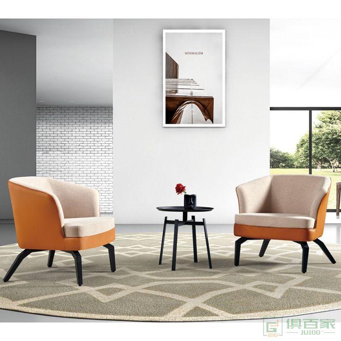信梦圆家具休闲洽谈系列懒人沙发老虎椅客厅休闲椅单人椅北欧轻奢单人