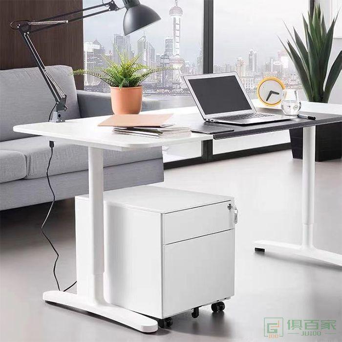 办公桌下收纳柜子抽屉柜桌侧边柜打印机矮柜移动文件柜活动柜带锁
