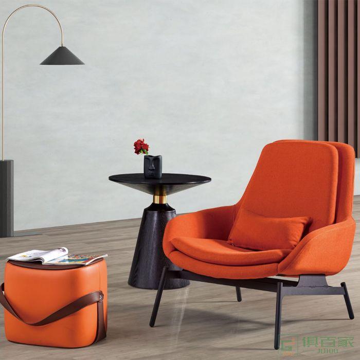 信梦圆家具休闲洽谈系列休闲椅沙发椅懒人实木现代简约轻奢
