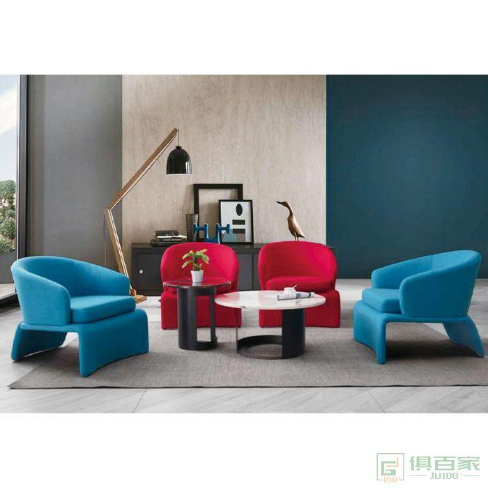 信梦圆家具休闲洽谈系列现代简约设计师客厅休闲椅接待单椅