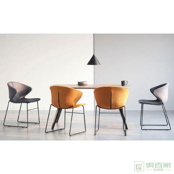 信梦圆家具休闲洽谈系列休闲椅北欧单人沙发椅轻奢设计师椅子