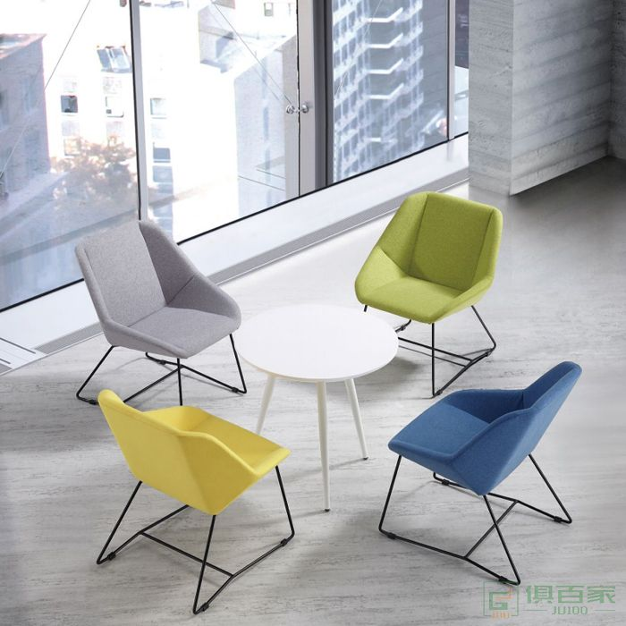 信梦圆家具休闲洽谈系列休闲椅现代简约小户型客厅单人沙发