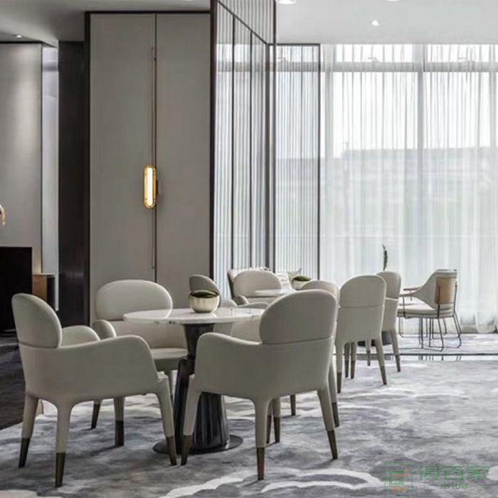 信梦圆家具休闲洽谈系列休闲椅设计师客厅家用简约阳台靠背