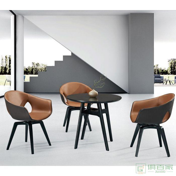 信梦圆家具休闲洽谈系列舒适久坐办公休闲椅学生书桌椅子靠背椅