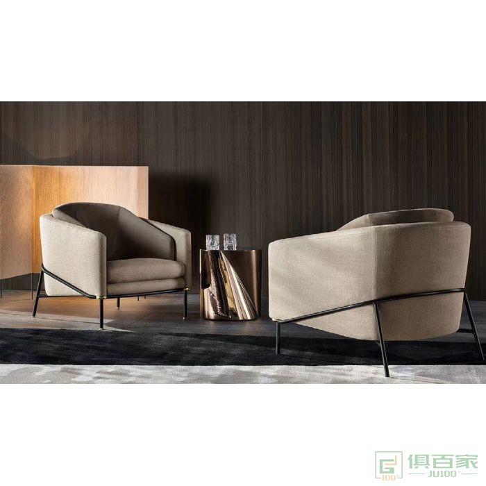信梦圆家具休闲洽谈系列休闲椅单人椅北欧轻奢单人沙发椅