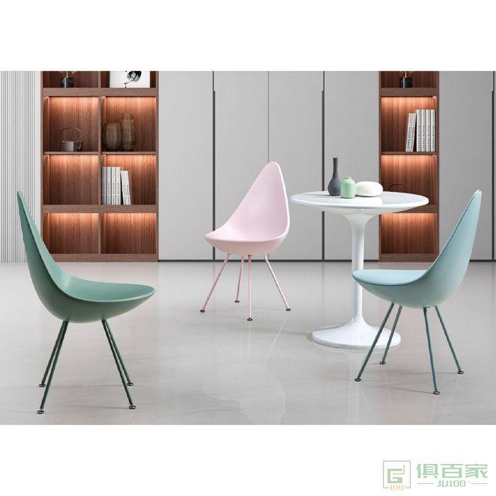 信梦圆家具休闲椅系列洽谈设计师单人沙发椅现代简约