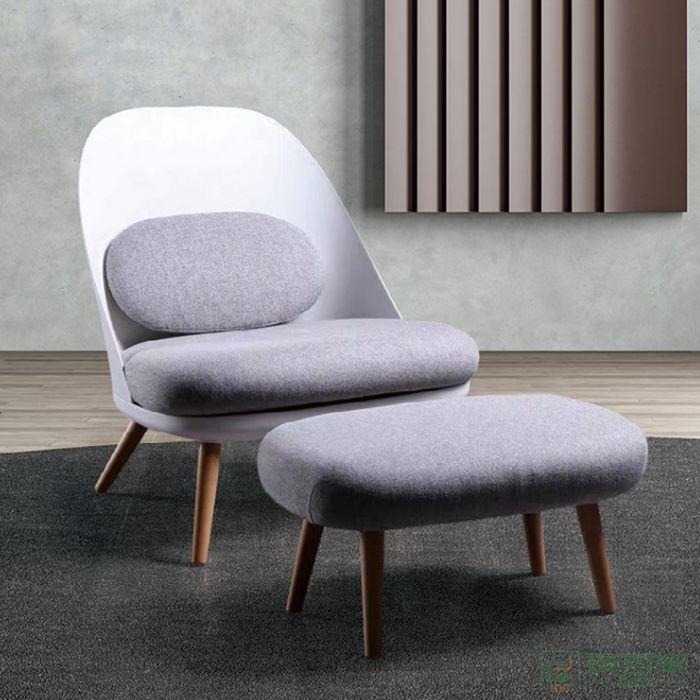 信梦圆家具休闲洽谈系列沙发现代简约客厅休闲躺椅轻奢