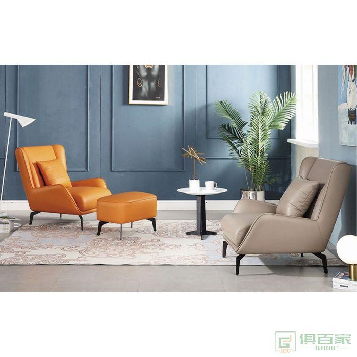 信梦圆家具休闲洽谈系列单人沙发休闲躺椅单椅