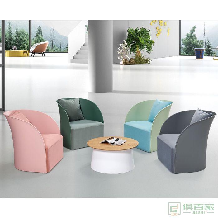 信梦圆家具休闲洽谈系列休闲椅美式老虎椅单人沙发
