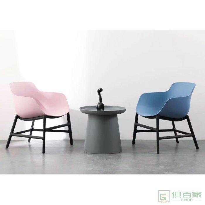 信梦圆家具休闲洽谈系列餐椅北欧橡木软包靠背书桌椅现代