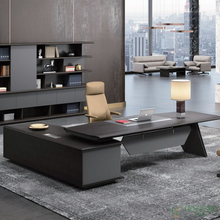 迪欧博尚家具维尚系列老板桌简约现代大班台总裁桌经理桌