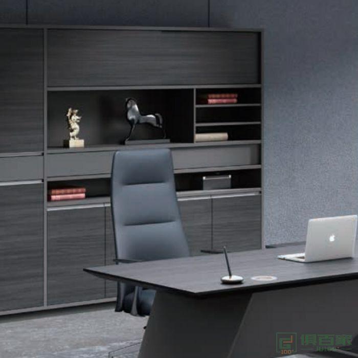迪欧博尚家具领尚系列木质高柜老板办公室书柜