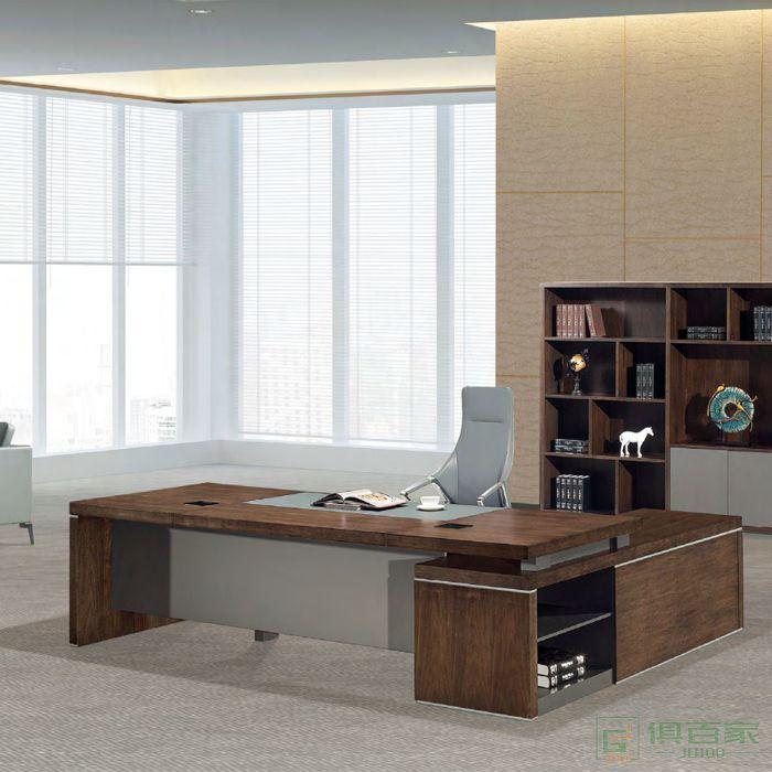 思进家具思玺系列总裁办公室大班台简约现代办公家具
