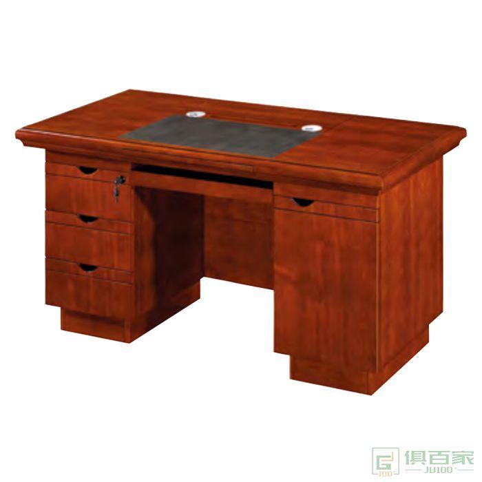 思进家具胡桃色系列电脑办公桌写字台台式办公桌单人电脑办公桌写字台