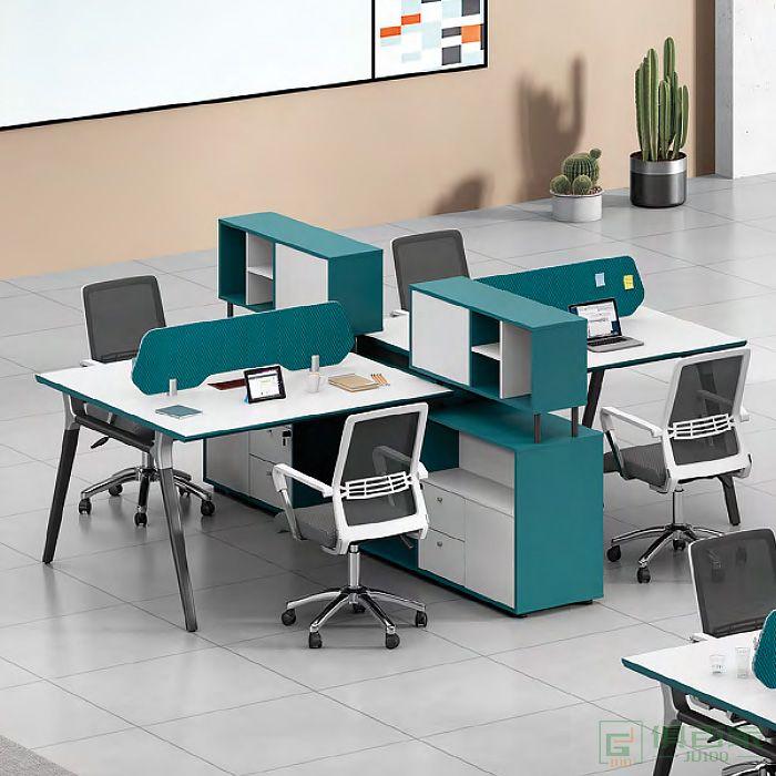 思进家具康斐斯系列职员桌对坐四人位