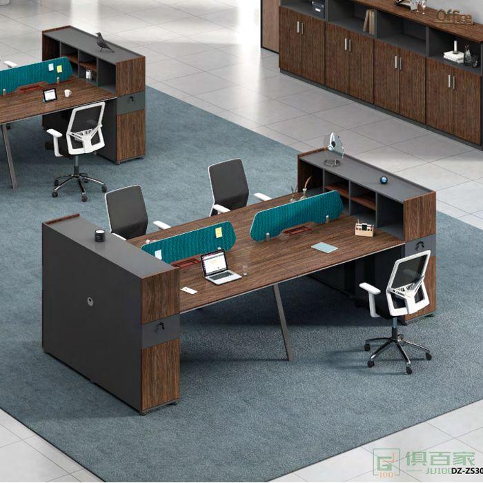 思进家具思喆系列四人位办公桌简约现代职员上班电脑桌