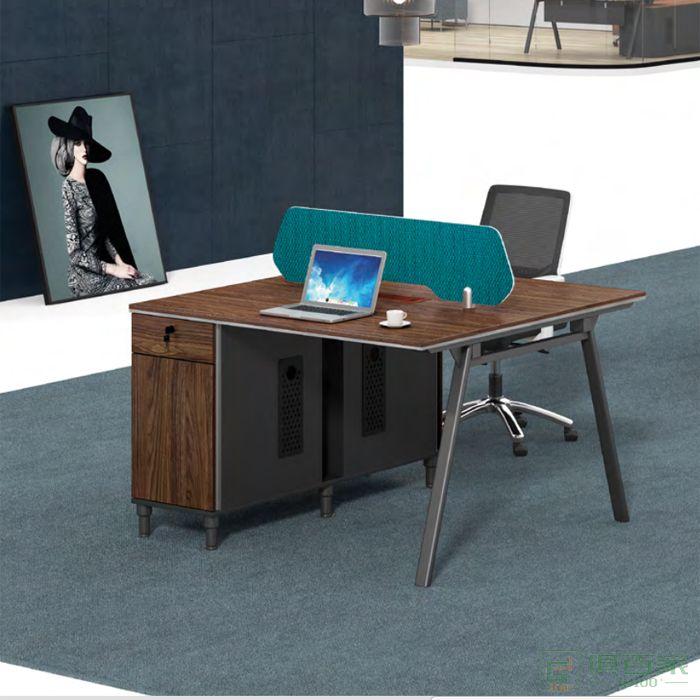 思进家具思喆系列双人位职员上班电脑桌办公室双人办公桌子