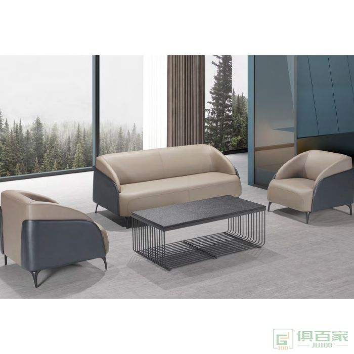 思进家具现代沙发单人位三人位沙发