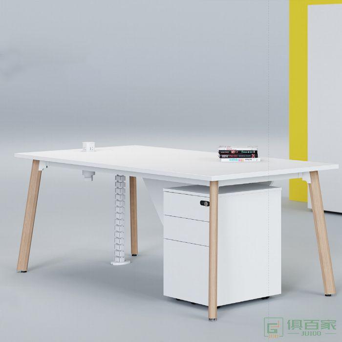 亿尚家具云木系列主管桌办公桌