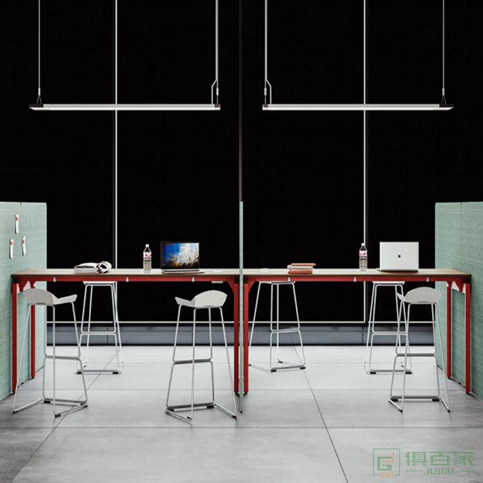 亿尚家具沃克斯系列小型简易会议桌长桌子简约现代洽谈桌