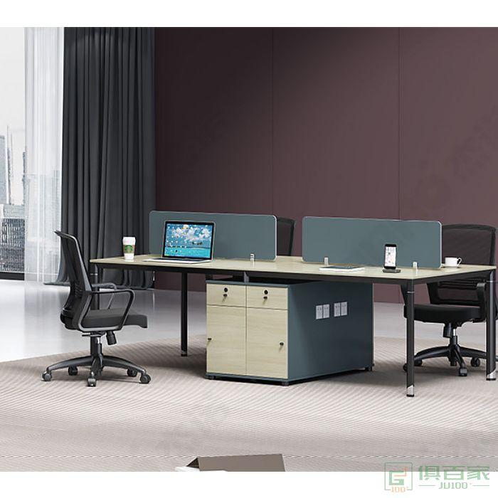 杰诺家具JE系列职员桌对坐四人位