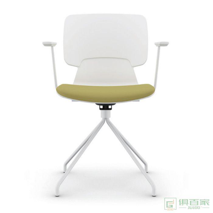 折叠培训椅带桌板会议椅办公椅一体