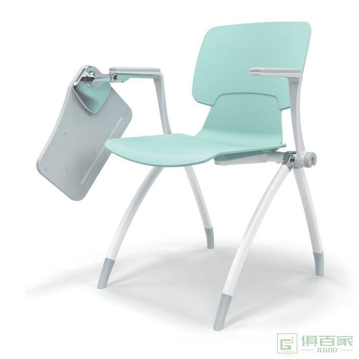 汇誉家具会议椅休闲椅培训椅带桌子