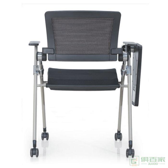 汇誉家具培训椅带桌子轮子