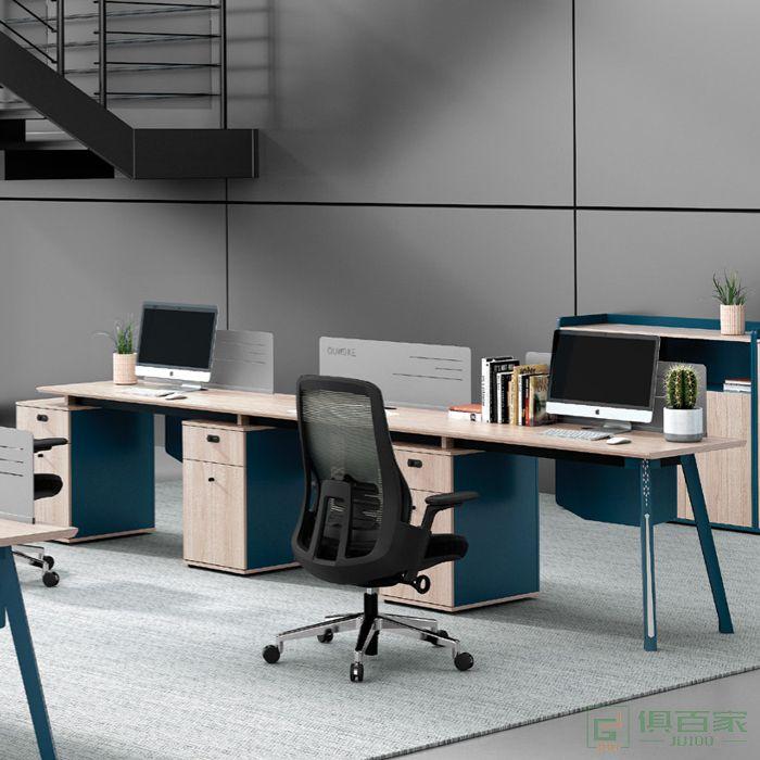 广立家具绅士系列办公桌简约现代财务办公桌