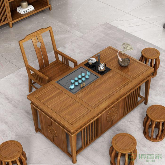 广立家具砚系列茶台新中式