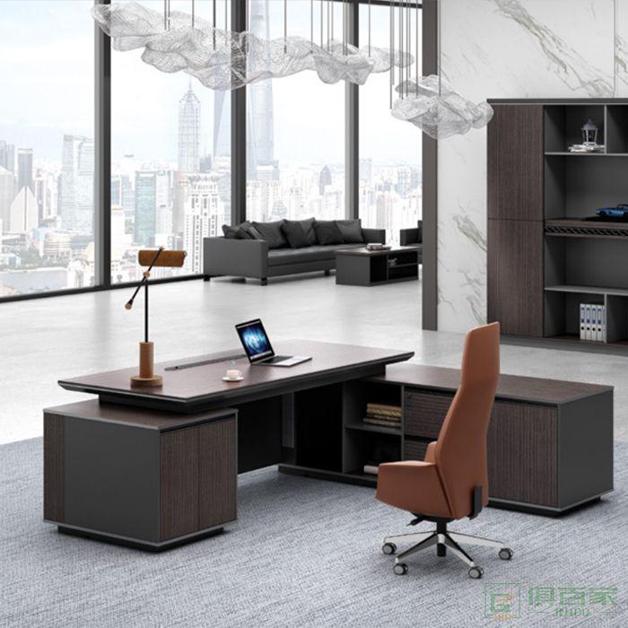 广立家具时代系列老板桌总裁桌老板办公桌子简约现代单人