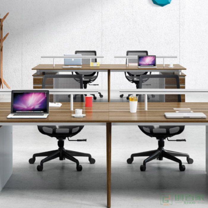 杰诺家具JN系列职员办公桌子 办公室简约现代财务